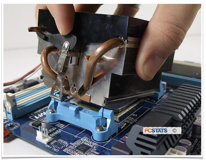Демонтаж системы охлаждения процессора