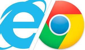 Internet Explorer против Google Chrome