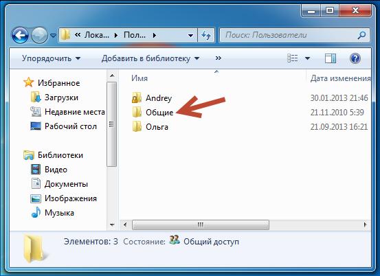 Структура папок профиля Windows