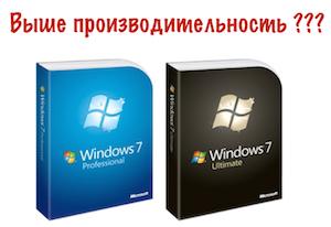 Производительность Windows 7 Максимальная