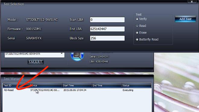 Проверка диска с помощью HDDScan