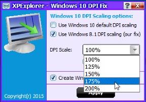 DPI масштабирование Windwos 10